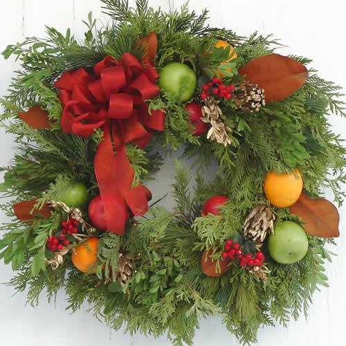 Fresh fruit wreath by eastcliff farm